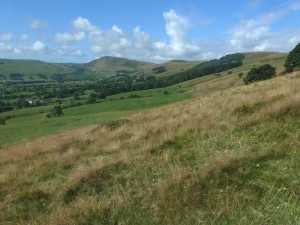 Picture of Mam Tor from flanks of Lose Hill